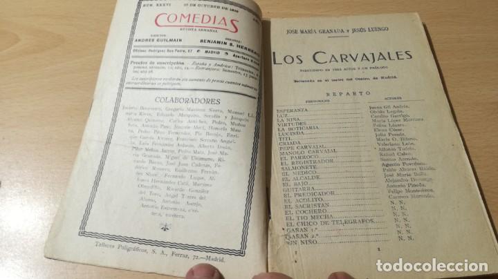 Libros antiguos: COMEDIAS - LOS CARVAJALES - J M GRANADA / J LUENGO - 1926M302 - Foto 4 - 194912128