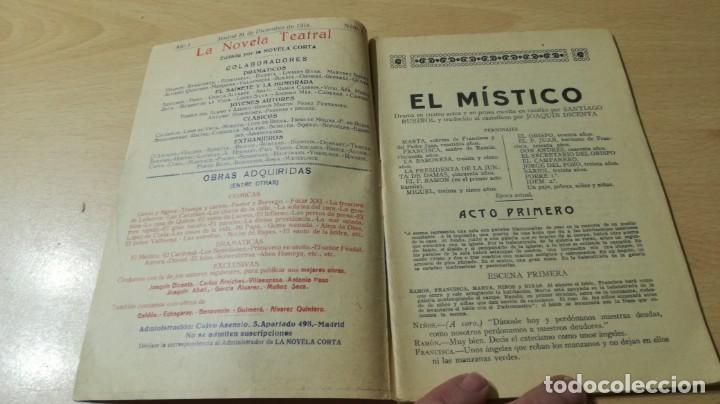 Libros antiguos: EL MÍSTICO - SANTIAGO RUSIÑOL - LA NOVELA TEATRAL - 1916 - Foto 4 - 194912478