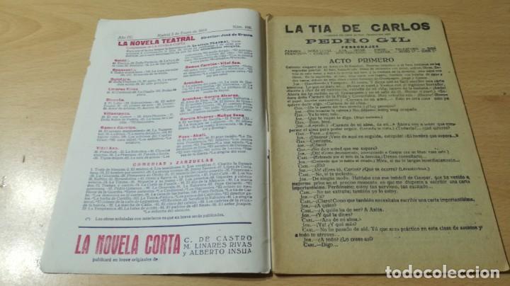 Libros antiguos: LA TIA DE CARLOS - PEDRO GIL - LA NOVELA TEATRAL - 1919M304 - Foto 3 - 194912546