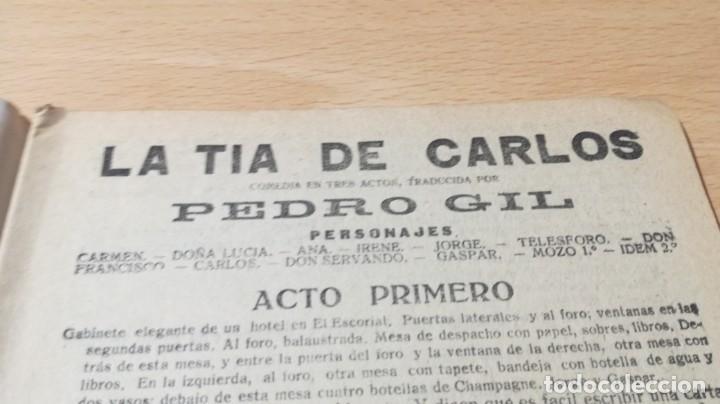 Libros antiguos: LA TIA DE CARLOS - PEDRO GIL - LA NOVELA TEATRAL - 1919M304 - Foto 4 - 194912546