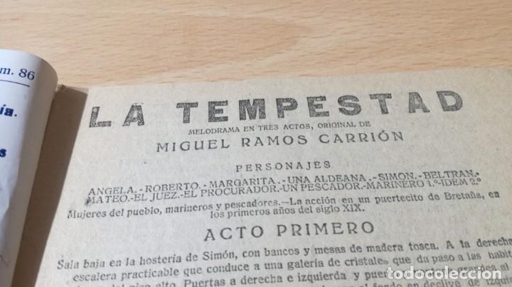 Libros antiguos: LA TEMPESTAD - M RAMOS CARRION - LA NOVELA TEATRAL ¿ 1818 ?M304 - Foto 3 - 194912647
