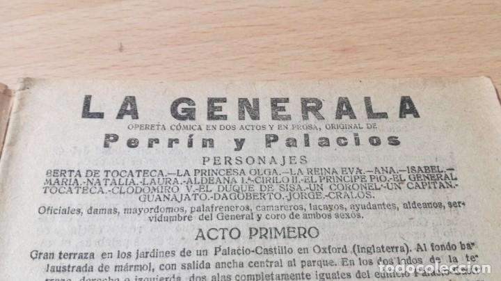 Libros antiguos: LA GENERALA - PERRIN Y PALACIOS - LA NOVELA TEATRAL 1918M304 - Foto 3 - 194913645