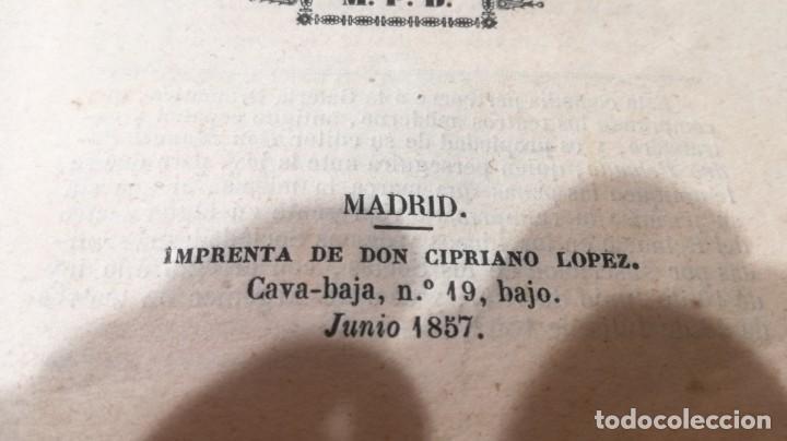Libros antiguos: PLAN - PLAN - M P D - AÑO 1857 IMPRENTA CIPRIANO LOPEZ MADRIDM304 - Foto 5 - 194914042