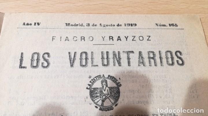 Libros antiguos: LOS VOLUNTARIOS - FIACRO YRAIZOZ - 1919M304 - Foto 4 - 194914138