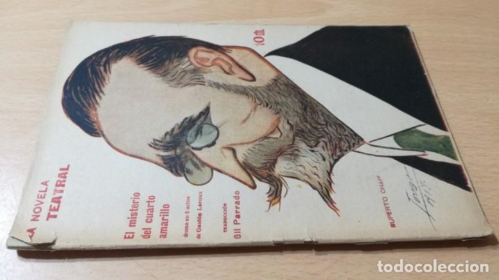 EL MISTERIO DEL CUARTO AMARILLO - GASTON LEROUX - 1917 LA NOVELA TEATRALM304 (Libros antiguos (hasta 1936), raros y curiosos - Literatura - Teatro)