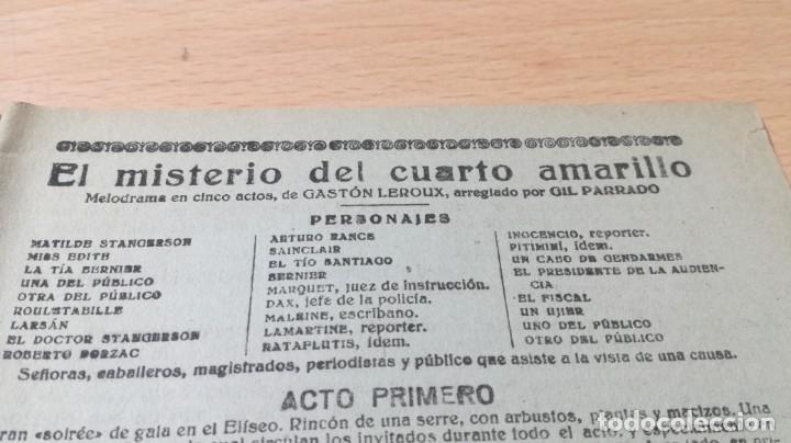 Libros antiguos: EL MISTERIO DEL CUARTO AMARILLO - GASTON LEROUX - 1917 LA NOVELA TEATRALM304 - Foto 3 - 194914372