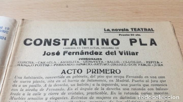 Libros antiguos: CONSTANTINO PLA - JOSE FERNANDEZ DEL VILLAR - 1922 LA NOVELA TEATRALM304 - Foto 3 - 194914605
