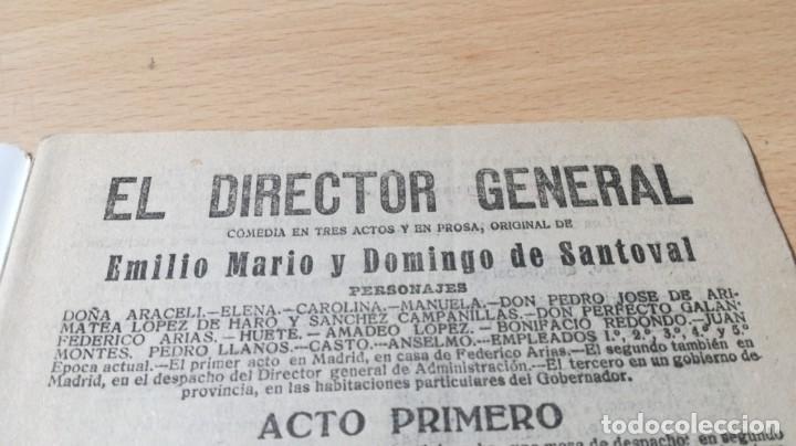 Libros antiguos: EL DIRECTOR GENERAL - E M Y D DE SANTOVAL - LA NOVELA TEATRAL 1919M304 - Foto 3 - 194914675