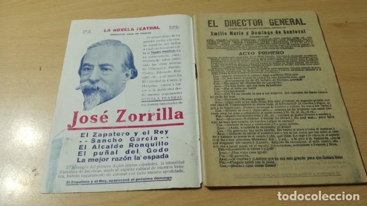 Libros antiguos: EL DIRECTOR GENERAL - E M Y D DE SANTOVAL - LA NOVELA TEATRAL 1919M304 - Foto 5 - 194914675