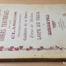 Libros antiguos: OBRAS TEATRALES DE LOS CLASICOS - ALEU EDITOR. Lote 194915508