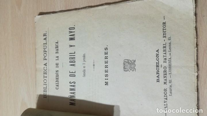 Libros antiguos: MAÑANAS DE ABRIL Y MAYO - MISERERES -CALDERON DE LA BARCA M401 - Foto 4 - 194915558