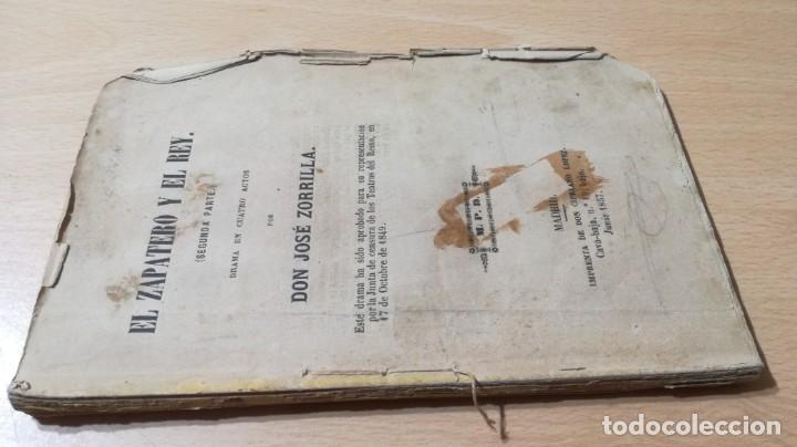 EL ZAPATERO Y EL REY - JOSE ZORRILA - 2ª PARTE - MPD 1857M401 (Libros antiguos (hasta 1936), raros y curiosos - Literatura - Teatro)