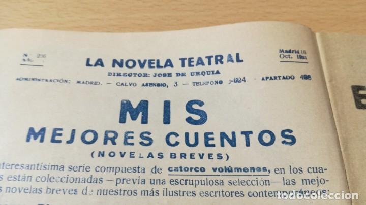 Libros antiguos: EL CENTENARIO - ALVAREZ QUINTERO - LA NOVELA TEATRAL 1921M401 - Foto 3 - 194917201