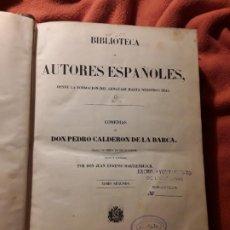 Libros antiguos: BIBLIOTECA DE AUTORES ESPAÑOLES 9, COMEDIAS DE CALDERON DE LA BARCA 2. RIVADENEYRA, 1849.. Lote 195018590