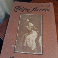 Libros antiguos: FELIPE SASSONE . A CAMPO TRAVIESA .EDITORES SANZ CALLEJA. Lote 196265450