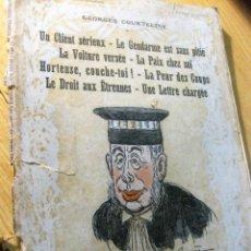 Libros antiguos: GEORGES COURTELINE . ILUSTRADOR BARRERE UN CLIENT SERIUX . LE GENDARME E DROIT MODER THEATRE 1896. Lote 197366906