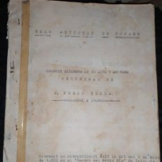 Libros antiguos: OBRA TRES ARTISTES DE PORCHE JOSÉ PERIS CELDA CHOQUES EN UN ACTE TEATRO MEDIO DÍA VALENCIA 1903. Lote 197761220