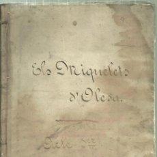 Libros antiguos: 204.- ELS MIQUELETS D`OLESA - MANUSCRIT ORIGINAL. Lote 198504611