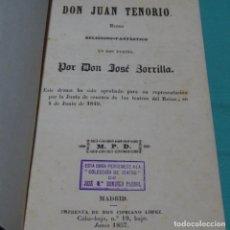Libros antiguos: DON JUAN TENORIO.JOSÉ ZORRILLA.1857. Lote 198833531