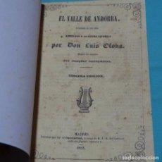 Libros antiguos: EL VALLE DE ANDORRA.LUIS OLANA.JOAQUIN GASTAMBIDE.1853. Lote 219133495