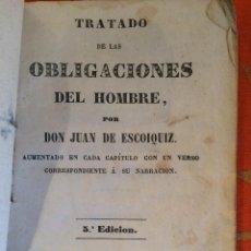 Libros antiguos: OBLIGACIONES DEL HOMBRE 1858. Lote 198981786