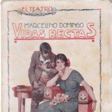 Livros antigos: EL TEATRO - VIDAS RECTAS - Nº 14 / 1926 - MARCELINO DOMINGO. Lote 200376522