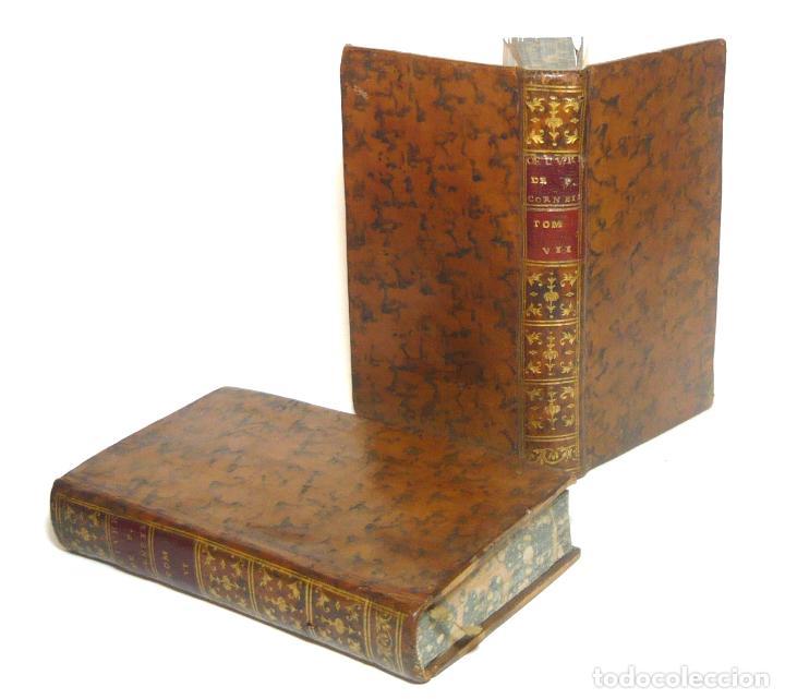 1758 - OBRAS DE PIERRE CORNEILLE - TEATRO CLÁSICO FRANCÉS - 2 TOMOS DEL SIGLO XVIII EN PIEL - EDIPO (Libros antiguos (hasta 1936), raros y curiosos - Literatura - Teatro)