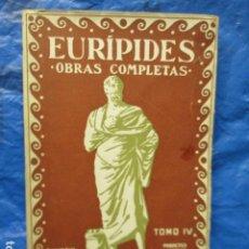 Libros antiguos: EURÍPIDES. - OBRAS COMPLETAS TOMO IV.. Lote 202502090