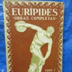 Libros antiguos: EURÍPIDES. - OBRAS COMPLETAS TOMO I.. Lote 202523378