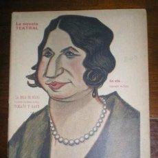 Libros antiguos: TAMAYO Y BAUS, MANUEL: LA BOLA DE NIEVE. MADRID, LA NOVELA TEATRAL Nº209 1920. 36PP. Lote 204158520