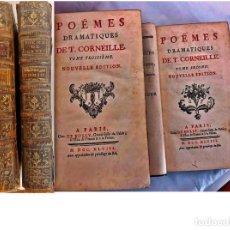 Livres anciens: AÑO 1748: POEMAS DE CORNEILLE. 2 ELEGANTES TOMOS DEL SIGLO XVIII.. Lote 205438091