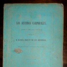 Libros antiguos: BRETON DE LOS HERREROS, MANUEL: LOS SENTIDOS CORPORALES. 1867. 1ª EDICIÓN. Lote 47381999