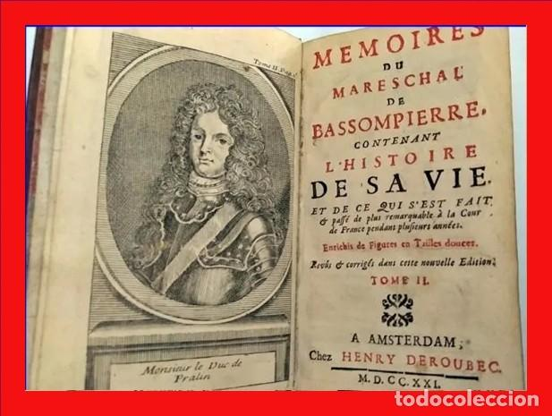 AÑO 1721: MEMORIAS DEL MARISAL DE BASSOMPIERRE. (Libros antiguos (hasta 1936), raros y curiosos - Literatura - Teatro)