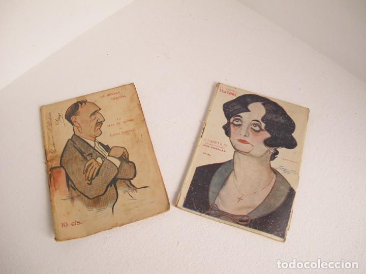 LOTE DE 2 DE LA NOVELA TEATRAL / 1917 Y 1919 / BUEN ESTADO POR EDAD / VER FOTOS (Libros antiguos (hasta 1936), raros y curiosos - Literatura - Teatro)