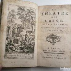 Libros antiguos: LE THEATRE DES GRECS. R.P.BRUMOY. 2 VOL DE 3 VOL. 1763 PARÍS. CHEZ LES LIBRAIRES ASSOCIÉS.. Lote 206355741