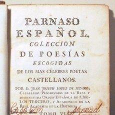 Libros antiguos: (BERMÚDEZ - SÓFOCLES - EURÍPIDES - ARGENSOLA) - PARNASO ESPAÑOL TOMO VI - MADRID 1772 - TEATRO. Lote 207088638