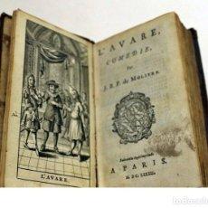 Libros antiguos: AÑO 1683. EL AVARO, DE MOLIÉRE. ILUSTRADO. 337 AÑOS DE ANTIGÜEDAD.. Lote 207188507