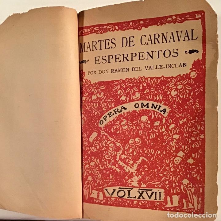Libros antiguos: Martes de Carnaval. Esperpentos. Ramón del Valle-Inclán. 1930. Primera edición. - Foto 2 - 205383065