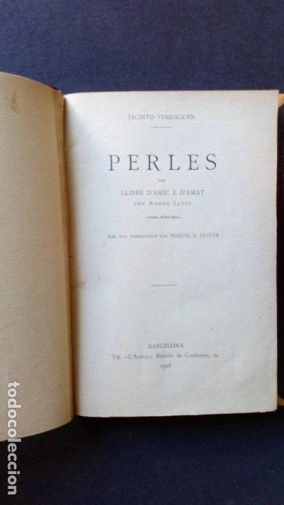 PERLES - JACINTO VERDAGUER (Libros antiguos (hasta 1936), raros y curiosos - Literatura - Teatro)