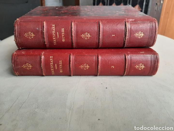 LIBRO FRACES EN FRANCES SHAKSPEARE CHEFS D'ŒUVRE PARIS 1864 TOMO I Y III (Libros antiguos (hasta 1936), raros y curiosos - Literatura - Teatro)