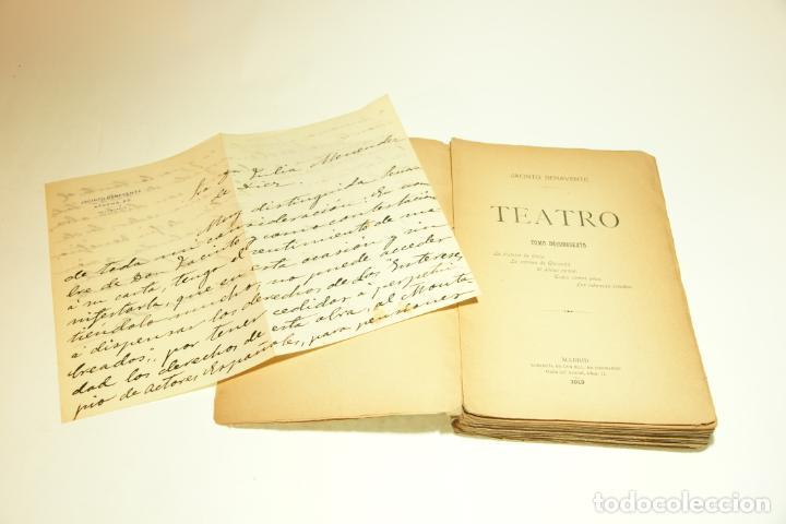 Libros antiguos: Teatro. Jacinto Benavente. Tomo décimosexto. Madrid. 1913. Incluye carta de Secretaría de Jacinto B. - Foto 2 - 209419545