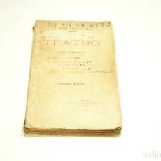 Libros antiguos: TEATRO. JACINTO BENAVENTE. TOMO DÉCIMOSEXTO. MADRID. 1913. INCLUYE CARTA DE SECRETARÍA DE JACINTO B.. Lote 209419545