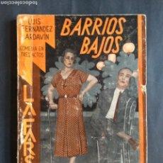 Libros antiguos: BARRIOS BAJOS : COMEDIA POPULAR MADRILEÑA - LUIS FERNÁNDEZ ARDAVÍN (1933. LA FARSA: AÑO VII, 263). Lote 207128653