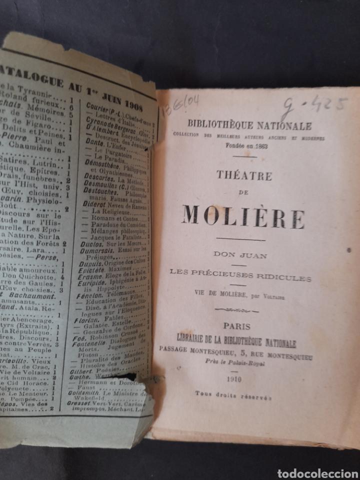 Libros antiguos: THÉATRE DE MOLIÈRE: Don Juan; Les précieuses ridicules - MOLIÈRE (1910) (FRANCÉS) - Foto 2 - 210569757
