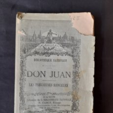 Libros antiguos: THÉATRE DE MOLIÈRE: DON JUAN; LES PRÉCIEUSES RIDICULES - MOLIÈRE (1910) (FRANCÉS). Lote 210569757