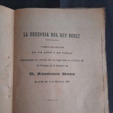"Libros antiguos: LA HERENSIA DEL REY BONET - EDUARDO ESCALANTE (1ª ED. VALENCIA, 1880) (BIBLIOTECA ""LAS PROVINCIAS""). Lote 211266427"
