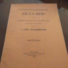 Libros antiguos: ¿QUIÉN ES EL DIRECTOR? F. LÓPEZ VAN-BAUMBERGHEN. Lote 211615231