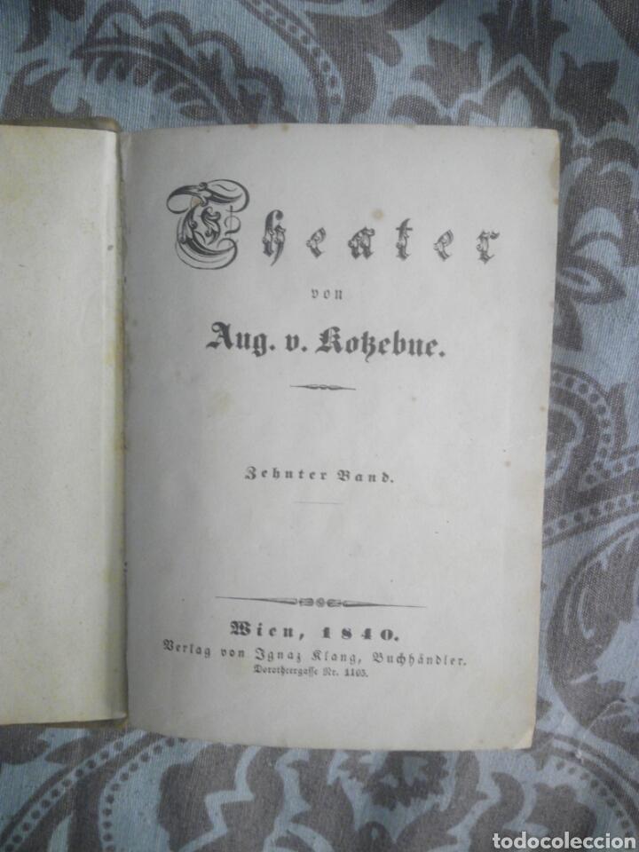 LIBRO ALEMÁN DEUTSCH WIEN 1840 THEATER TEATRO (Libros antiguos (hasta 1936), raros y curiosos - Literatura - Teatro)