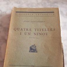 Libros antiguos: ANGEL GUIMERA TEATRE SELECTE 1949 LLIBRERIA CATALONIA. Lote 213340028
