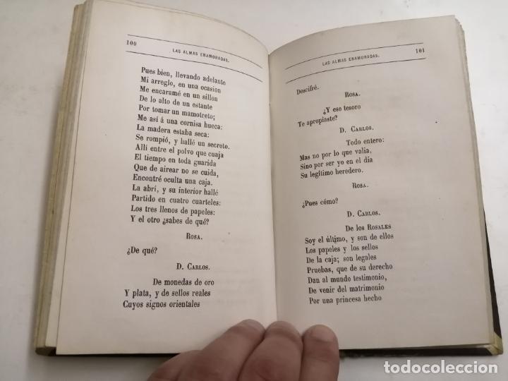 Libros antiguos: Las Almas Enamoradas, leyenda en verso. José Zorrilla. 1868 Barcelona. Ed.: Salvador Manero. - Foto 6 - 213709915